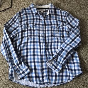 Forever21 Blue Checkered Flannel Size M